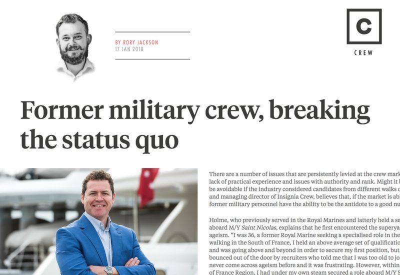 Superyacht News, Insignia Crew