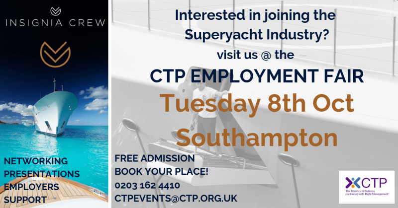 Insignia Crew attending the CTP Employment Fair in Southampton